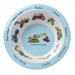 Assiette creuse en mélamine - les camions- Tyrell Katz