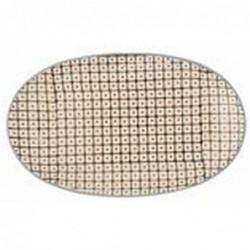Plat oval Elizabeth - Bloomingville - brun