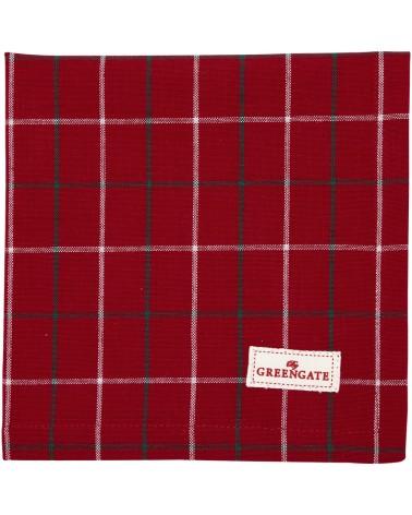 Serviette de table - Greengate - Lyla check red