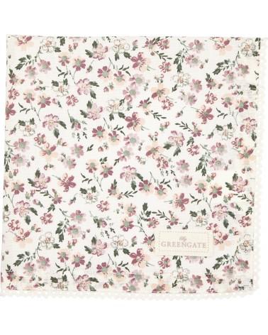 Serviette de table - Greengate - dentelle - Marie petit dusty rose