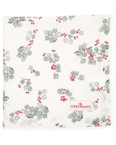 Serviette de table - Greengate - dentelle - Scarlett white