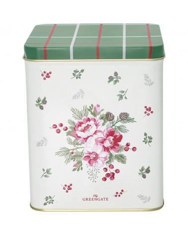 Boîte à thé - Greengate - Charline white - Grande
