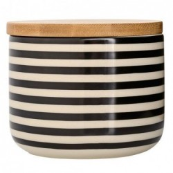 Pot black couvercle bambou - Bloomingville