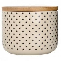 Pot cream couvercle bambou - Bloomingville