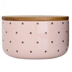 Pot pink nude couvercle bambou - Bloomingville