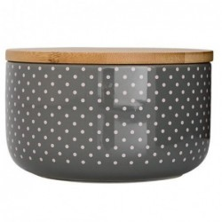 Pot cool grey couvercle bambou - Bloomingville