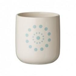 Vase blanc - Bloomingville - crème bleue