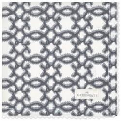 Serviette de table - Greengate - Karma dark grey