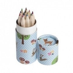 Cartouche de 12 crayons de couleurs - Woodland animals - Rex