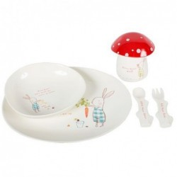 Set de vaisselle en mélamine - Maileg - Bunny green