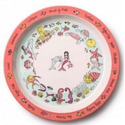 Assiette en mélamine - Petite sirène - Tyrell Katz