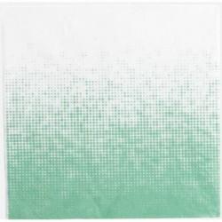Lot de 20 serviettes de table  - Dégradé de jade - House Doctor