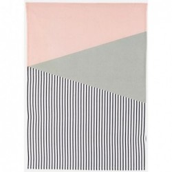 Torchon - Geometry dusty rose - blanc- gris - House Doctor