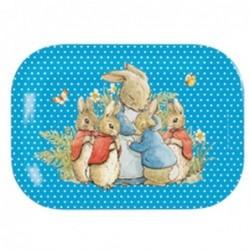 Petit Plateau Maman et ses petits - Bleu - Peter Rabbit