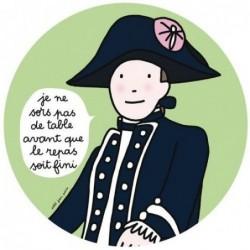 Assiette Mousquetaire - Je ne sors pas de table - Petit Jour Paris