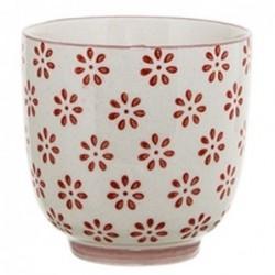 Latte cup Susie - Bloomingville - Fleurs rouges