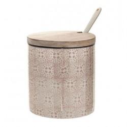 Pot Cécile à sel avec cuillère rose - Bloomingville - L