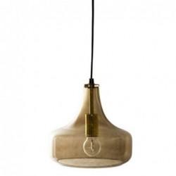 Lampe suspension - Bloomingville - Verre brun