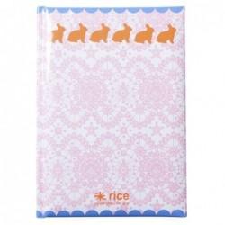 Carnet A5 couverture rigide - Rice - Dentelle et lapins
