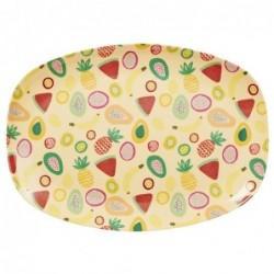 Assiette rectangulaire Mélamine - Plateau Rice - Tutti Frutti