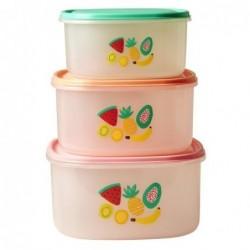 Boites alimentaires - Rice - Lot de 3 - Tutti Frutti