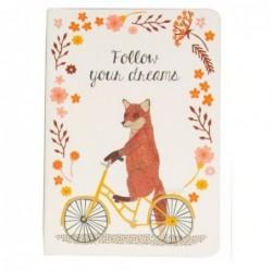 Carnet - Happy animals on bike - Renard - Sass & Belle