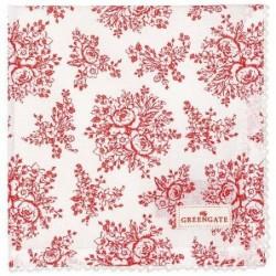 Serviette de table - Greengate - Stephanie red