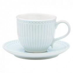 Tasse et soucoupe - Greengate - Alice pale blue