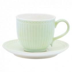 Tasse et soucoupe - Greengate - Alice pale green