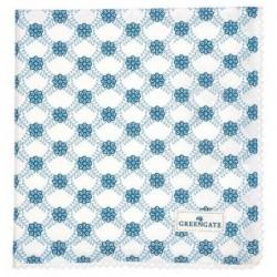Serviette de table - Greengate - dentelle Lolly blue