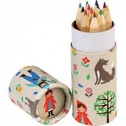 Cartouche de 12 crayons de couleurs - Le petit chaperon rouge - Rex