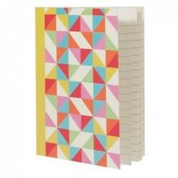 Carnet de poche A6 - Multicolour geometric - Rex