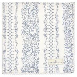 Serviette de table - Greengate - Jenny dusty blue