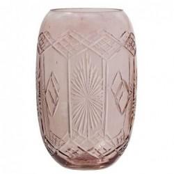 Vase en verre - Bloomingville - Rose