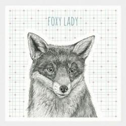 Dessous de verre porcelaine - East of India - Foxy Lady