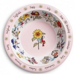 Assiette creuse en mélamine - Fleurs et fées - Tyrell Katz