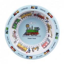Assiette creuse en mélamine - Train - Tyrell Katz