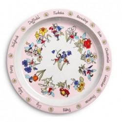 Assiette en mélamine -  Fleurs et fées - Tyrrell Katz