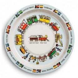 Assiette en mélamine - Trains - Tyrrell Katz