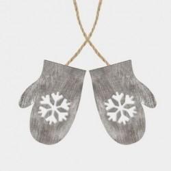 Décoration à suspendre - East of India - Paire de gants - Gris
