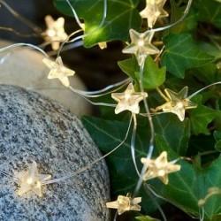 Guirlande lumineuse LED - Sirius - Trille - Petites étoiles - Argent - 40L