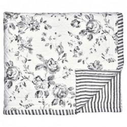 Couverture en coton - 180x230- Amanda dark grey  - Greengate