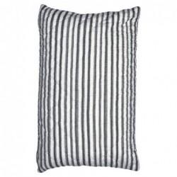 Housse de coussin - Amanda dark grey stripe - Greengate