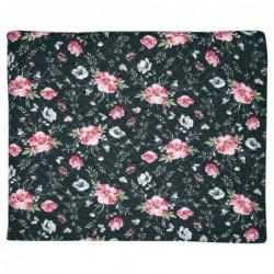 Couverture en coton - 140x220 - Meadow black - Greengate