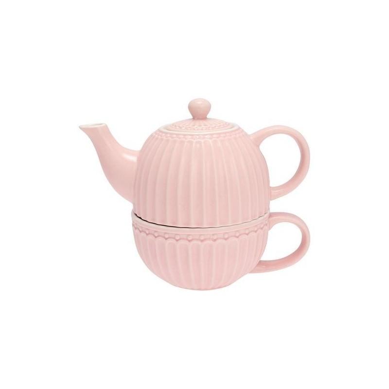 Théière solitaire - Greengate - Alice pale pink
