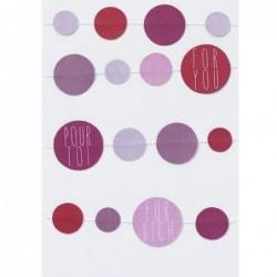 Carte postale - For you - Guirlande -  Rader