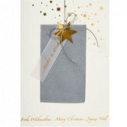 Carte de Noel - Etoile dorée - Rader