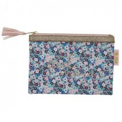 Trousse plate - Rice - Small Flower Blue