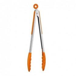 Pince en silicone - inox - Orange - 30cm
