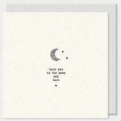 Carte postale carrée - East of India - Love you to the moon